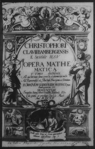 First Volume - Opera Mathematica title page and verso - Page i
