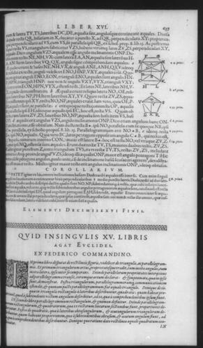 First Volume - Commentary on Euclid - Recapitulation - Page 637