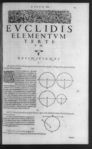 First Volume - Commentary on Euclid - III - Page 105