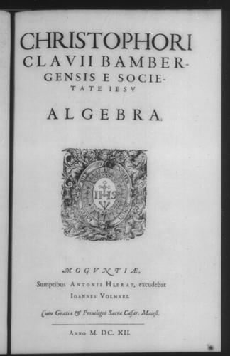 Second Volume - Algebra - Title page and verso - Page 1