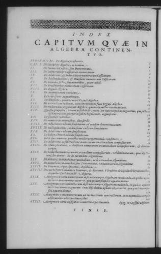 Second Volume - Algebra - Table of contents - Page 182