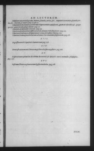 Third Volume - Commentary on John of Holywood's Spheres - Table of contents - Page iii