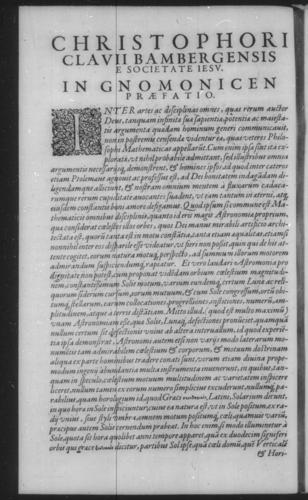 Fourth Volume - Gnomonics - Title Page - Page i