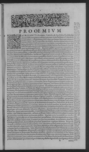 Fifth Volume - Roman Calendar of Gregory XIII - Preamble - Page 1