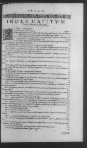 Fifth Volume - Roman Calendar of Gregory XIII - Table of contents - Page 597