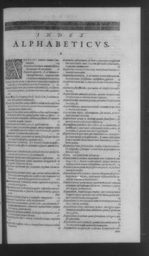 Fifth Volume - Roman Calendar of Gregory XIII - Alphabetical index - Page 609