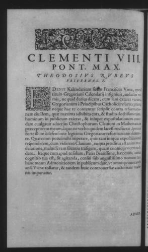 Fifth Volume - Apology Appendices - Admonition of T. Rubeus against Francis Vieta - Page 12